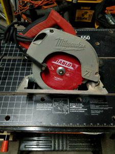 "Milwaukee 7 1/4"" circular saw"