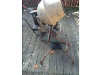 electric cement mixer clean drum ex condition can be seen working