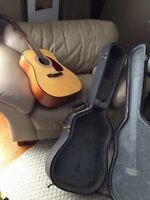 Fender guitar with hard case