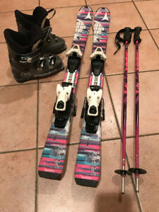 KIDS SKIS, BOOTS, BINDINGS AND POLES