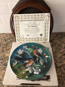 """The Bluebird"" 7th Birds of Your Garden Collectors Plate by Kevi"