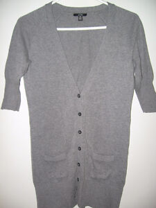 GREY CARDIGAN FROM JACOB, SIZE SMALL