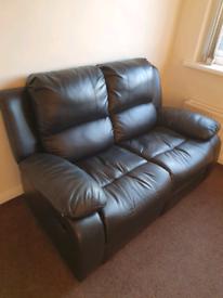Sofas faux leather x2