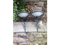 Vintage wall light sconce x 2