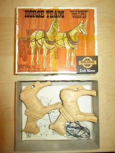 Vintage Craft Master Horse Team Wooden Kit