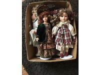 Vintage porcaline dolls