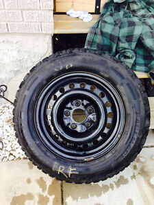 M & S 215/65/R16 Set of Tires and Rims