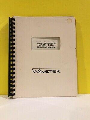 Wavetek Signal Generator Model 2520 Operating Manual
