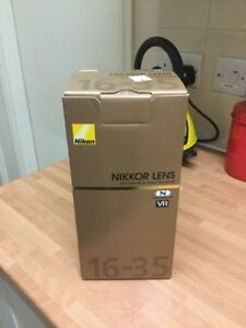 new Nikon AF S 16 35 F4 G ED N VR ultra wide angle zoom in box
