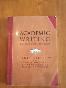 Academic Writing An Introduction by Janet Gilthrow - Textbook