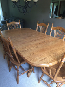 Dining Table Solid Wood Cdn Made With Chairs