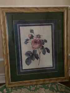 Wall Rose Picture With a Frame London Ontario image 2