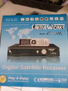 CAPTIVEWORKS CW800S FREE TO AIR USB PVR SATELLITE TV RECEIVER (T