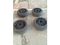 Black alloy wheels 5x110