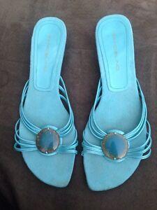 Ladies turquoise sandals size 9.5