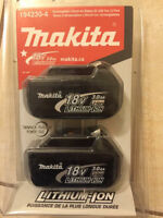 MAKITA  Batterie Lithium-ion Compact 18 V (duo) Brand New