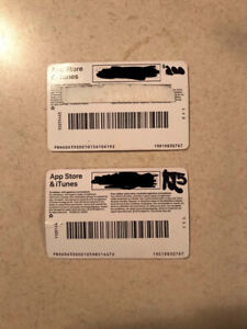 iTunes cards for sale