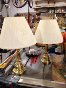 Brass Lamps with shades