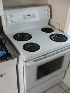 "30"" white GE self cleaning stove  $200"