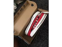 BRAND NEW RED CONVERSE SIZE 4