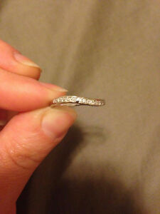 10K White Gold Pave Ring Size 6 OBO