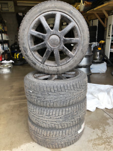 225/50R17 Winter Tires on aluminium Rims