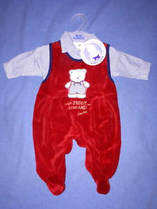 Baby Boys 2pc Holiday Christmas Outfit Size 0-3mts New with Tags