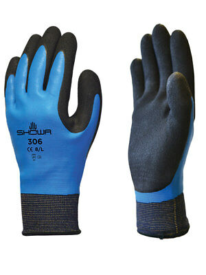 Showa 306 Foam Latex Grip Waterproof Gloves Breathable Liner M-2xl 1 Pair
