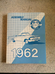 1962 Chevy  Shop manual and factory assembly manual