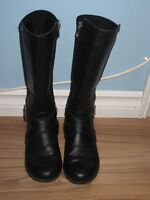 """GIRLS """"TOMMY HILFIGER"""" ANDREA NEOPRENE RIDER BOOTS - SIZE 1"""