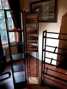 Book or DVD shelving and movies