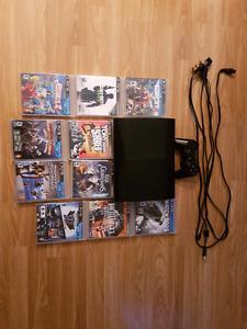 PS3 Slim, controller, 10 games.