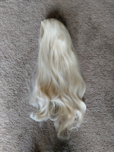 Platium blonde lace front high quality synthetic wig