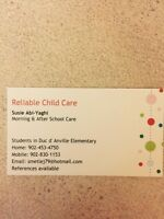 MORNING AFTER SCHOOL CARE AVAILABLE DUC DANVILLE SCHOOL