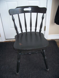 Country Design Black Chair
