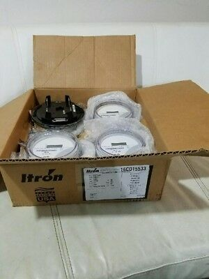 Itron  Watthour Meter  Kwh  C1s  Centron  240V  200A  4 Lugs  Form 2S  Lot Of 4