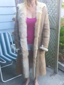 Vintage Toscanna Lambskin coat.