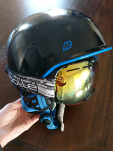 mens K2 helmet and bolle goggles