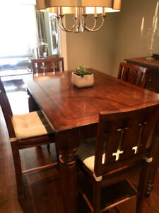 Extendable Dining Table set/ Bar Height Dining Table Set