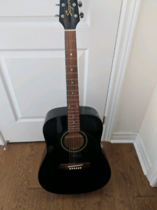 Acoustic Guitar, Case, and Accessories!