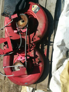 Riding mower deck/table