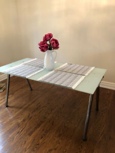 IKEA frosted glass Galant table/desk