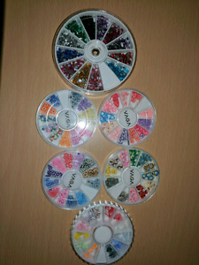 Nail decorations gems stickers lot
