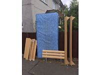 COMPLETE SINGLE BED WITH MATTRESS ** FREE DELIVERY AVAILABLE **