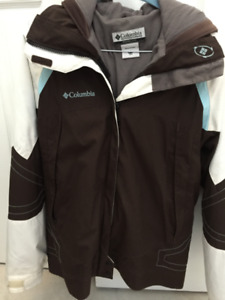 Columbia 3-in-1 Winter/Ski Coat - Size 14/16 Youth or S Womens