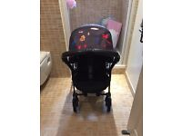 Bugaboo bee plus black frame 2 button fold with limited edition Andy Warhol hood