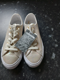Children's converse and vans trainers