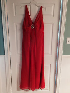 Red long gown - new