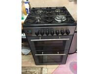 Kenwood dual fuel cooker stovetop, oven and grill in black