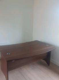 Walnut executive office desk